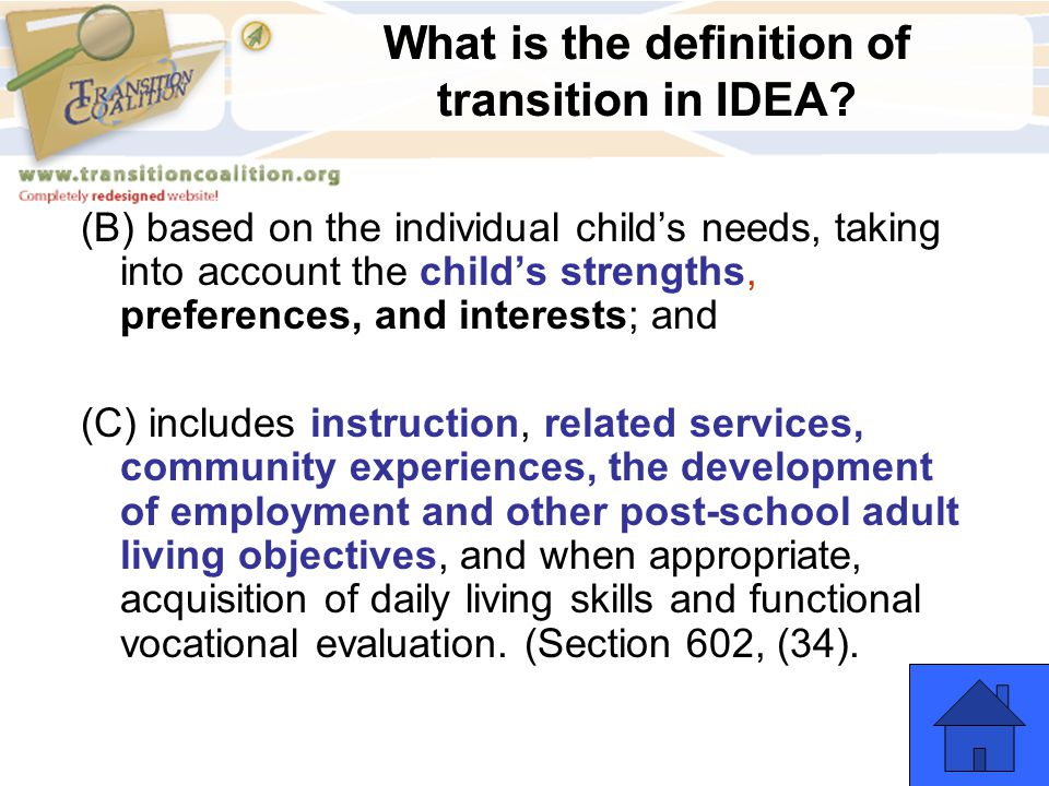 (B) based on the individual child's needs, taking into account the child's strengths, preferences, and interests; and (C) includes instruction, relate
