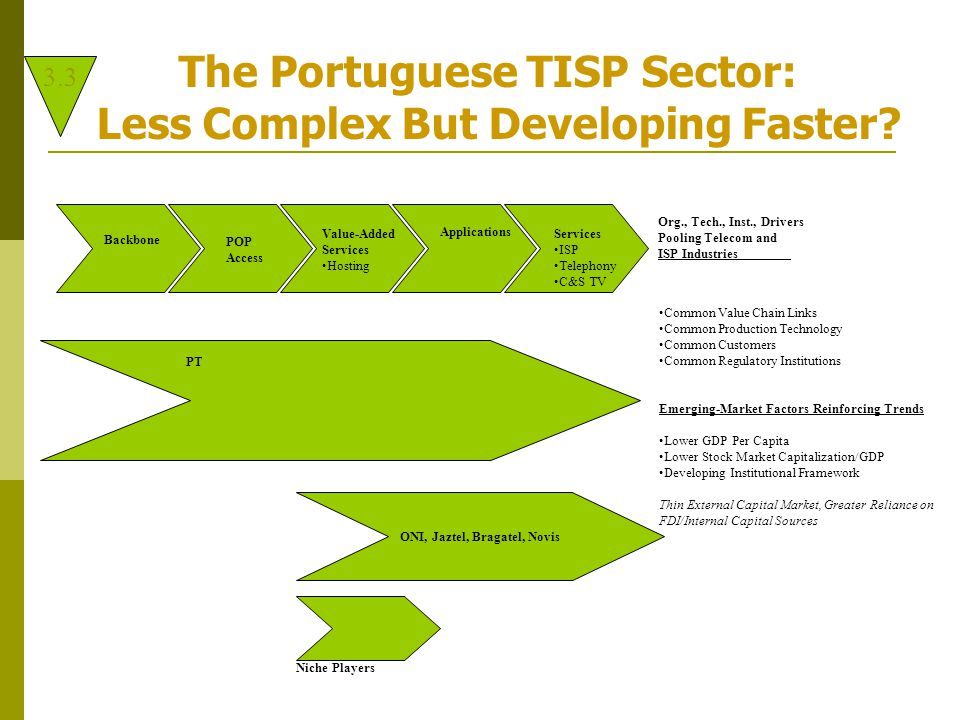 The Portuguese TISP Sector: Less Complex But Developing Faster.
