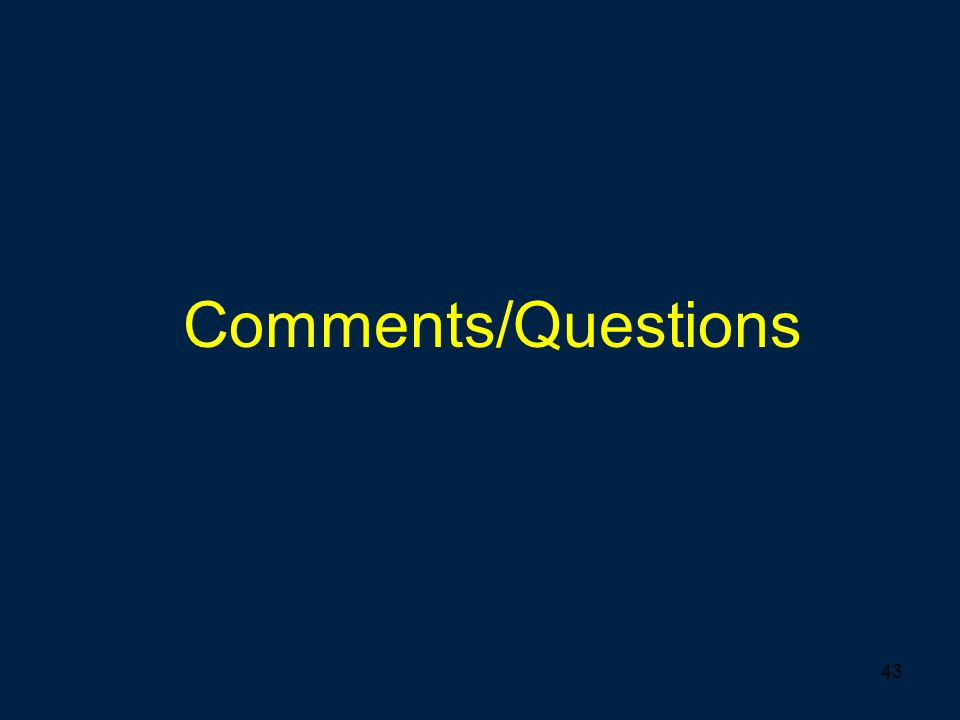 43 Comments/Questions