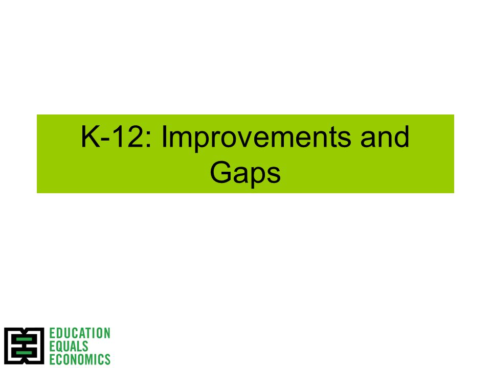 K-12: Improvements and Gaps