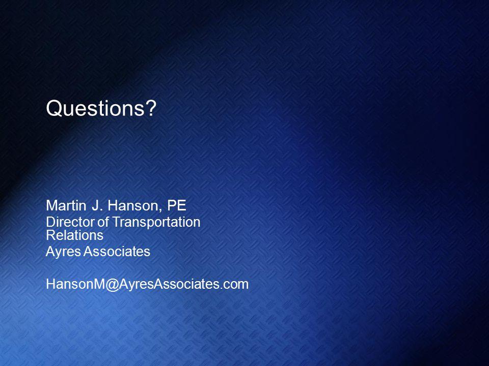 Questions. Martin J.