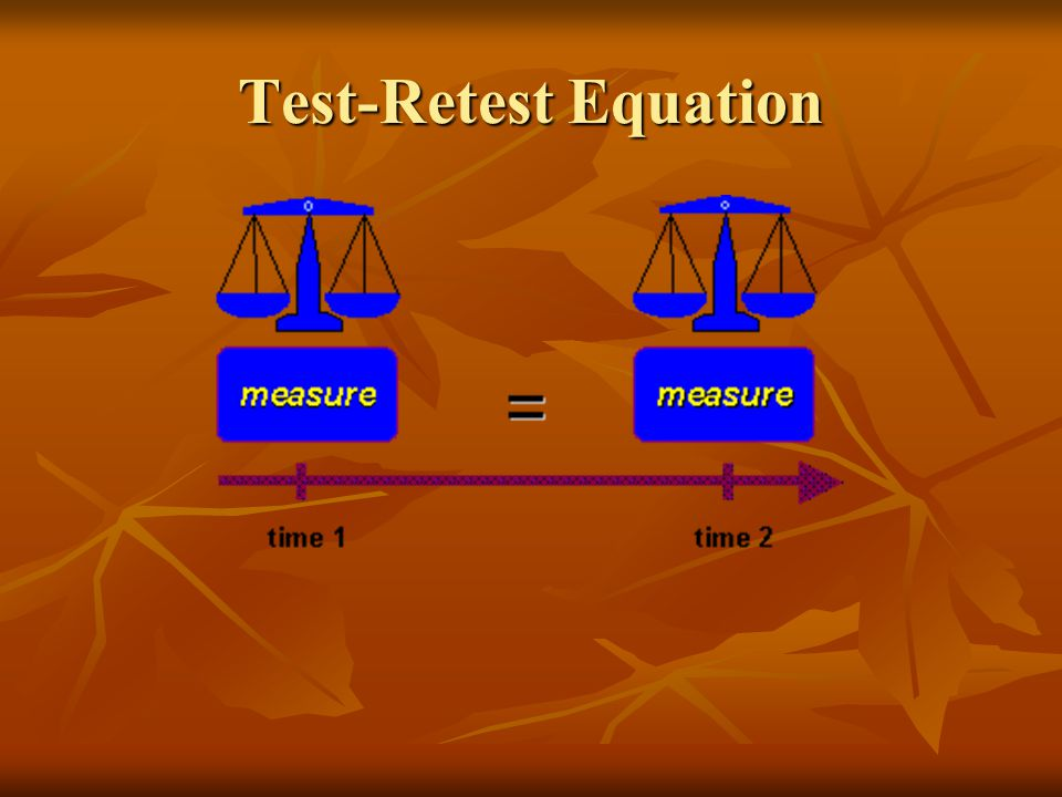 Test-Retest Equation