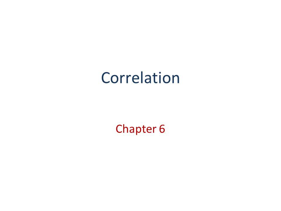 Correlation Chapter 6