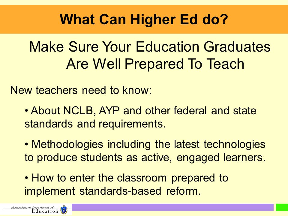 What Can Higher Ed do.
