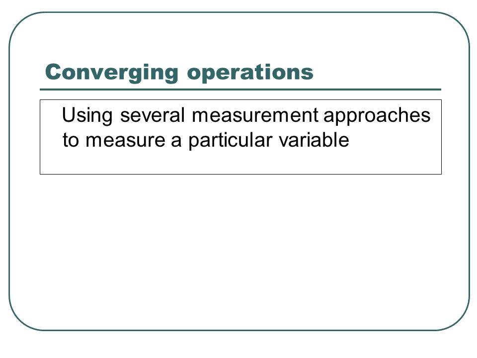 Saying that some measure is ________ definitely means it is also __________.
