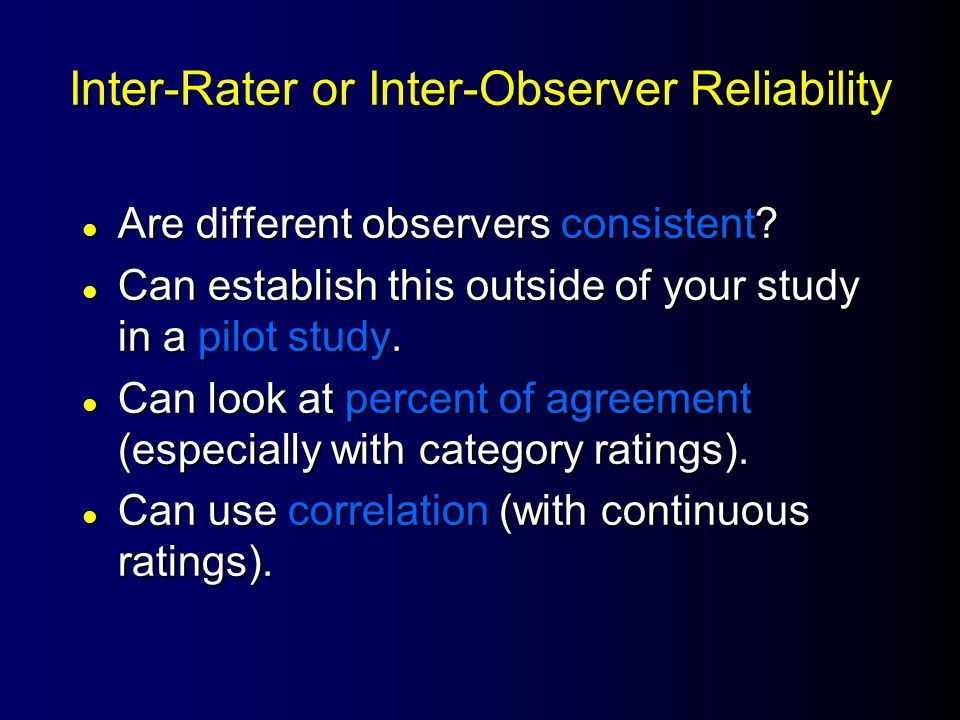 Test-Retest Reliability Time 1 Time 2