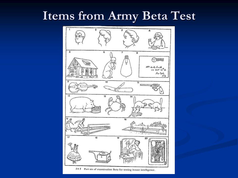 Items from Army Beta Test