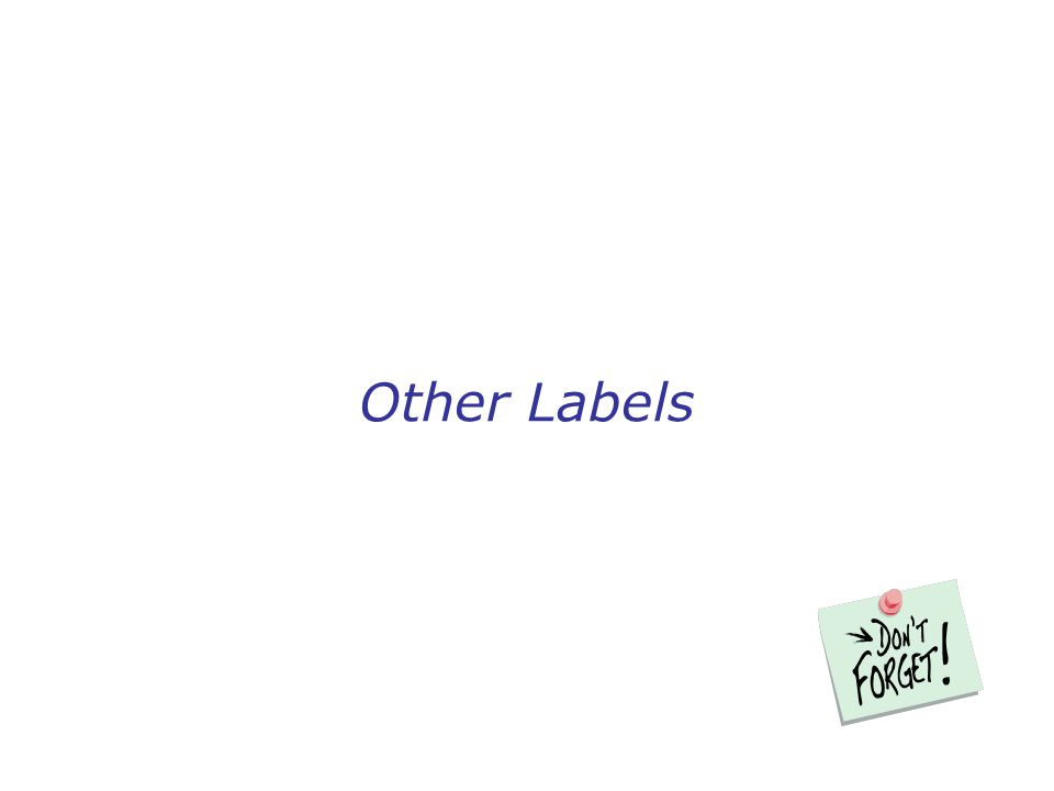 Other Labels