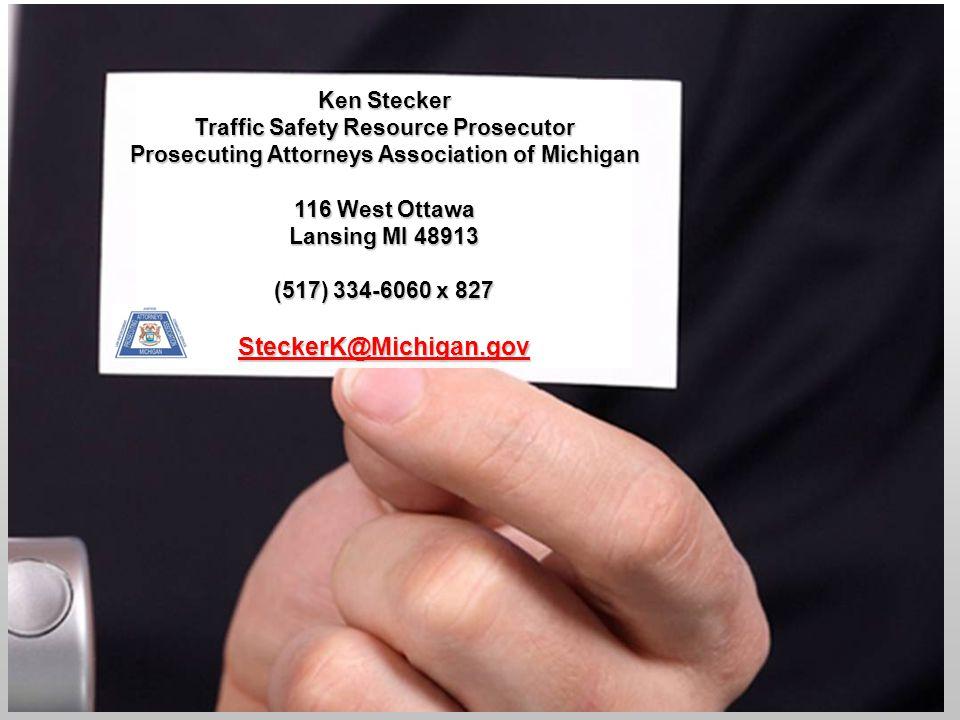 Michigan's Ignition Interlock Law Ken Stecker Traffic Safety Resource Prosecutor Prosecuting Attorneys Association of Michigan 116 West Ottawa Lansing MI 48913 (517) 334-6060 x 827 SteckerK@Michigan.gov