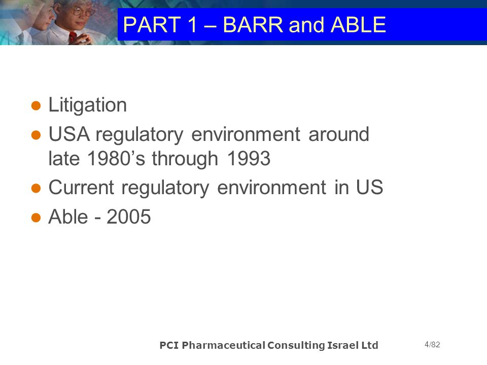 PCI Pharmaceutical Consulting Israel Ltd 25/82 Ever heard this….