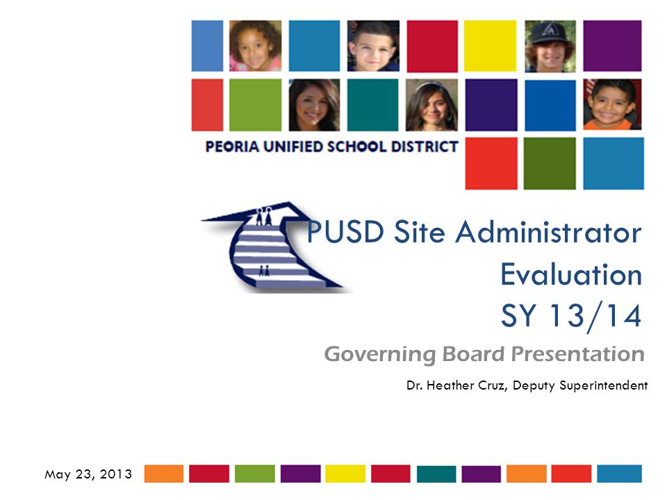 PUSD Site Administrator Evaluation SY 13/14 Governing Board Presentation May 23, 2013 Dr.