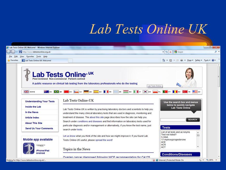 Lab Tests Online UK