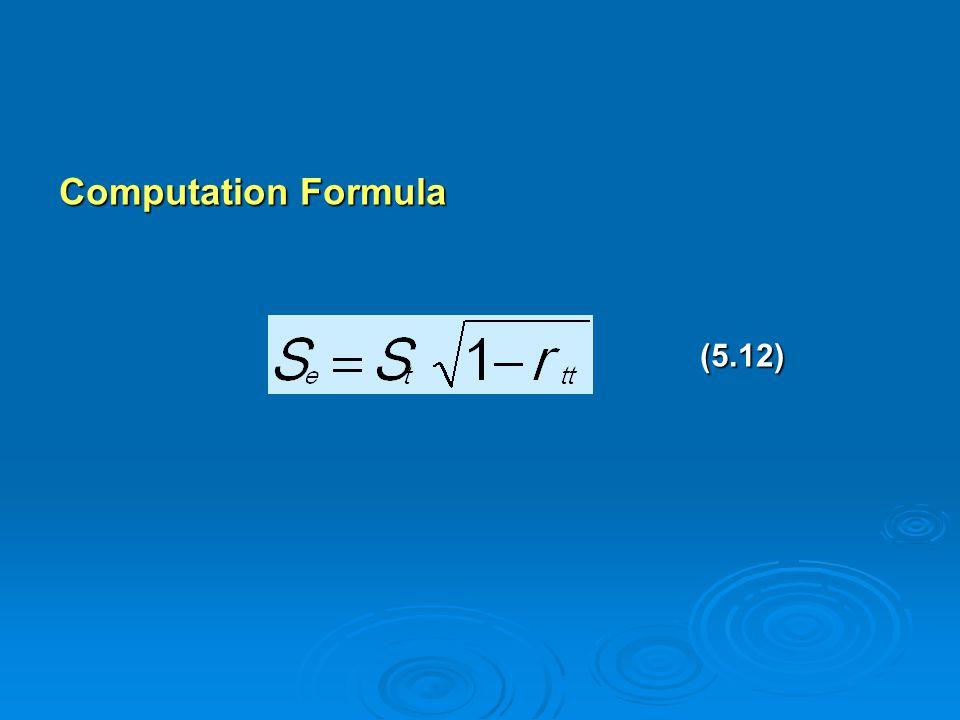 Computation Formula (5.12) (5.12)
