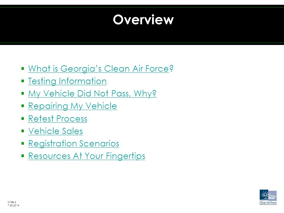  What is Georgia's Clean Air Force.