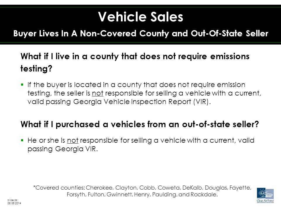 What if I live in a county that does not require emissions testing.