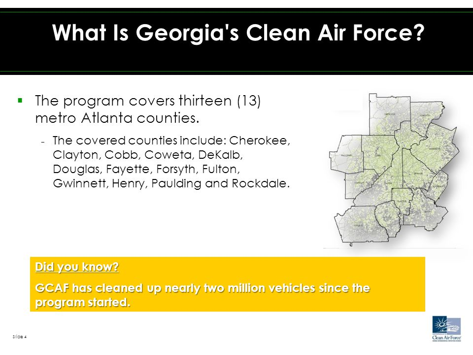 ` What Is Georgia s Clean Air Force. Did you know.