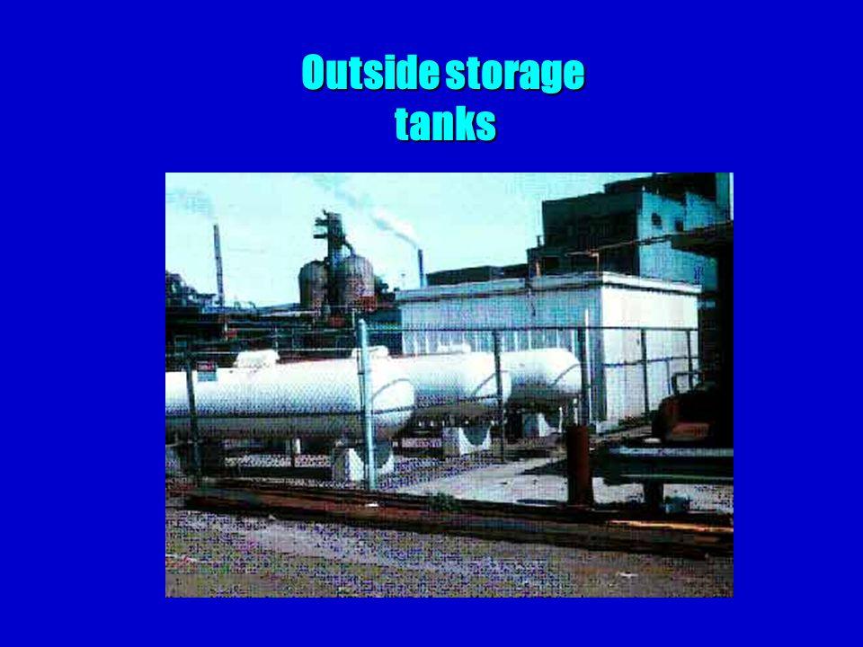 Outside storage tanks