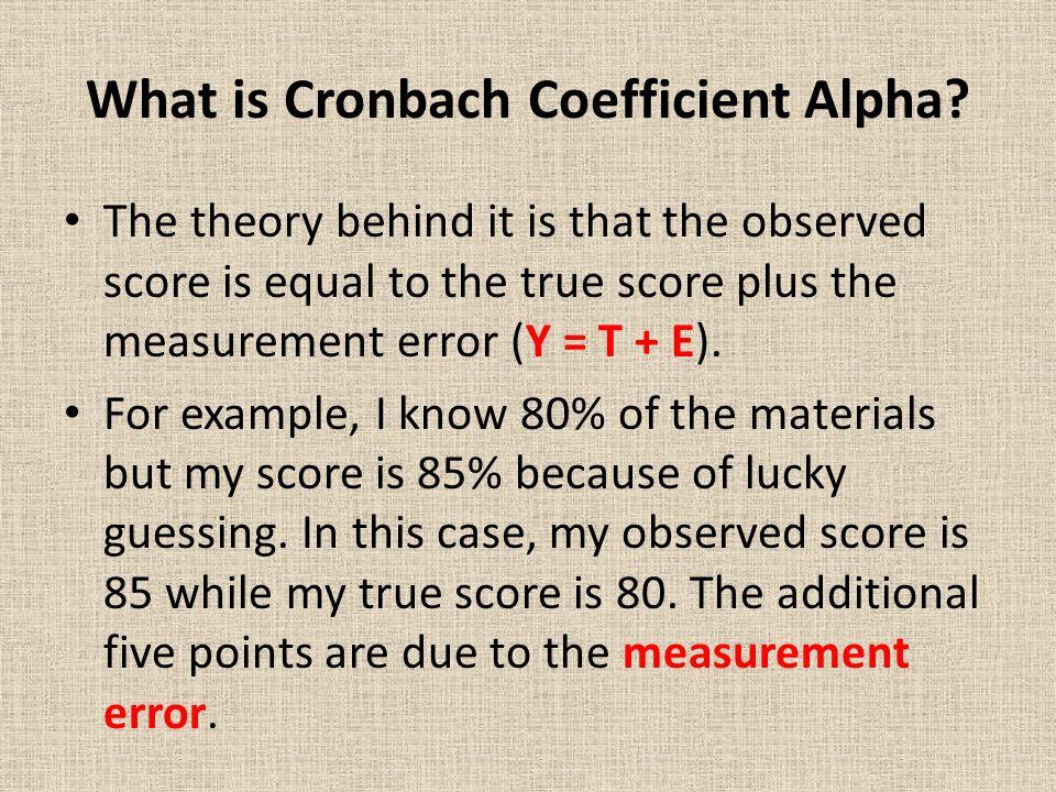 What is Cronbach Coefficient Alpha.