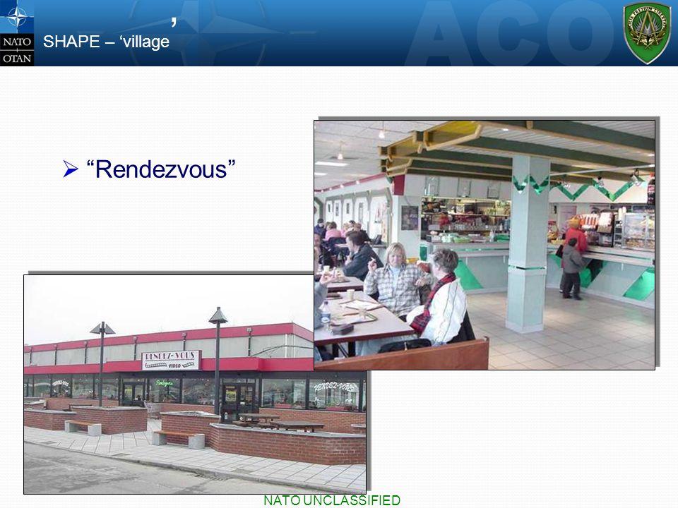  Rendezvous SHAPE – 'village ' NATO UNCLASSIFIED