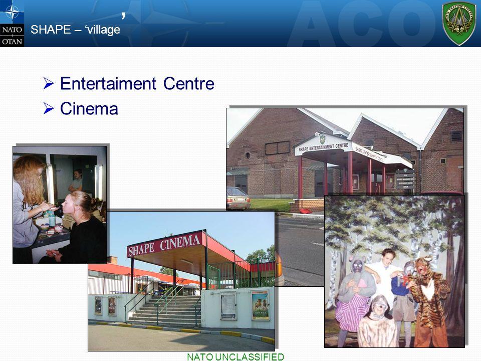  Entertaiment Centre  Cinema SHAPE – 'village ' NATO UNCLASSIFIED