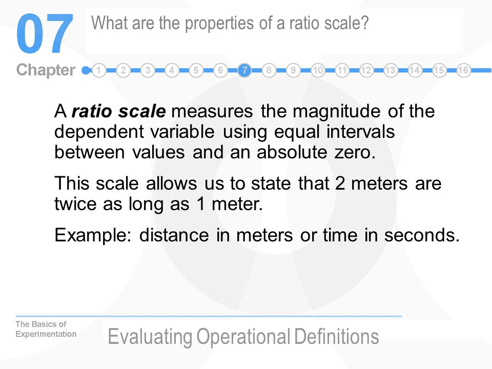 What are the properties of a ratio scale.