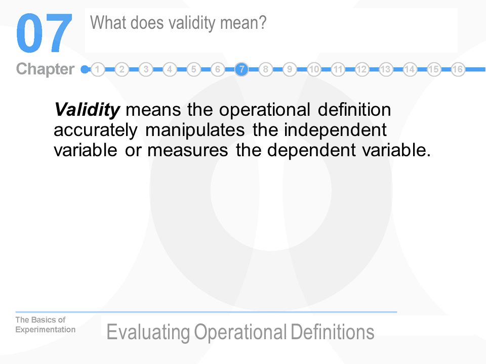 What does validity mean.