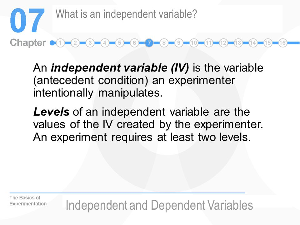 What is an independent variable.