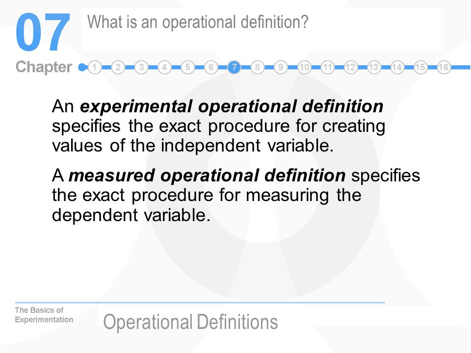 What is an operational definition.