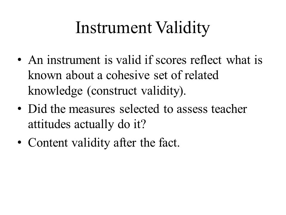 Threats to Internal Validity Why should you be concerned if your data collection method was to set up a video camera in the back of a classroom to record a teaching event.