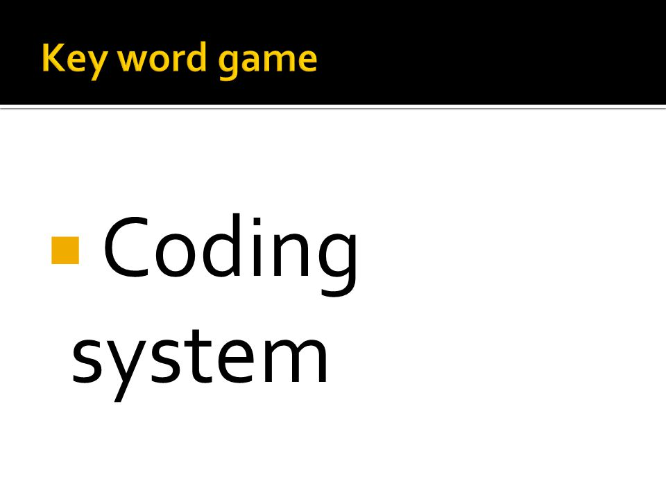  Coding system