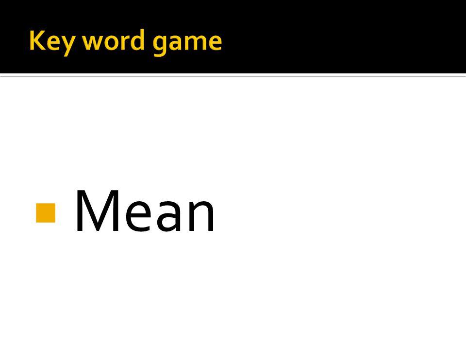  Mean