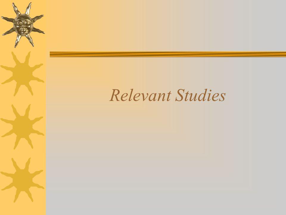 Relevant Studies