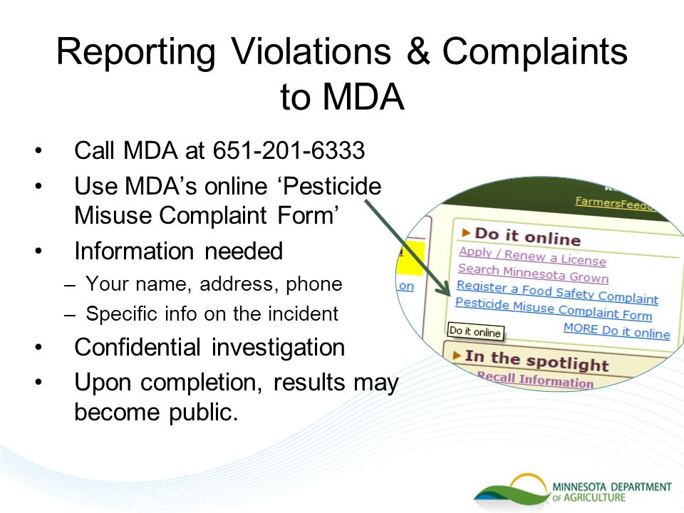 Recordkeeping Summary Commercial Applicators –Keep records of all pesticide applications –Give a copy of record to customer Noncommercial Applicators –Keep records of Restricted Use Pesticide applications Use the category specific records.