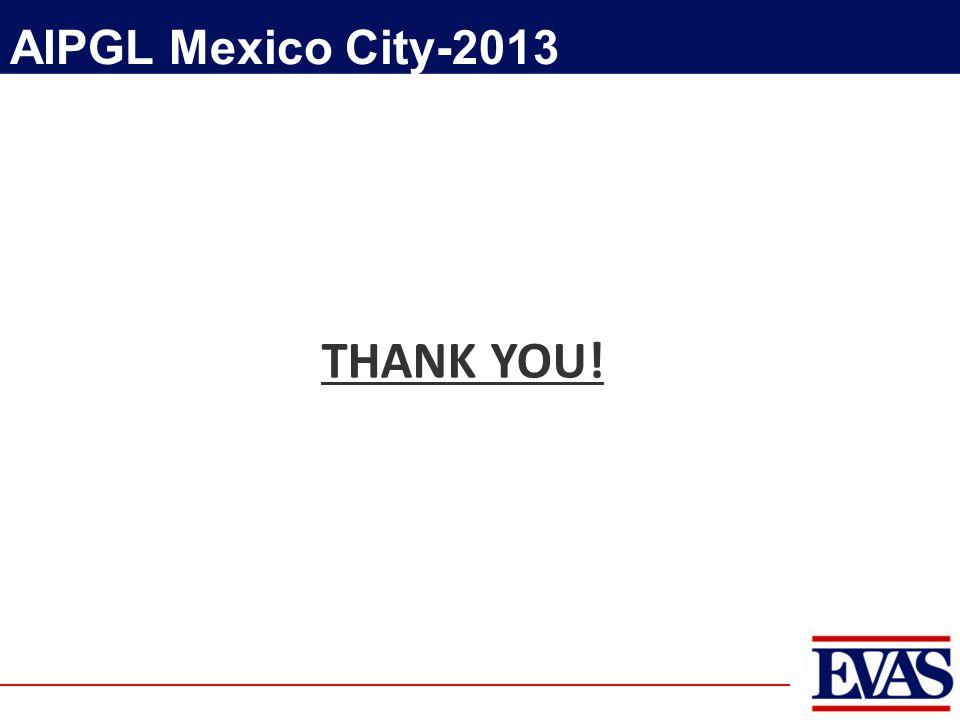 THANK YOU! AIPGL Mexico City-2013