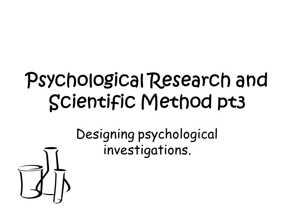 Selection & application of appropriate research methods.