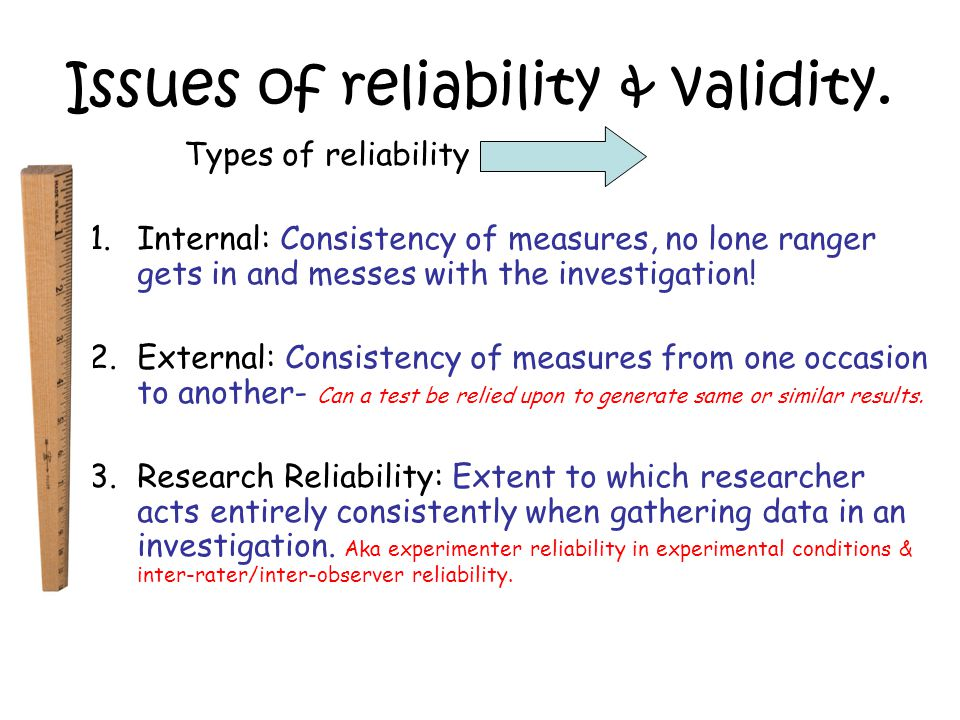 Assessing researcher reliability.