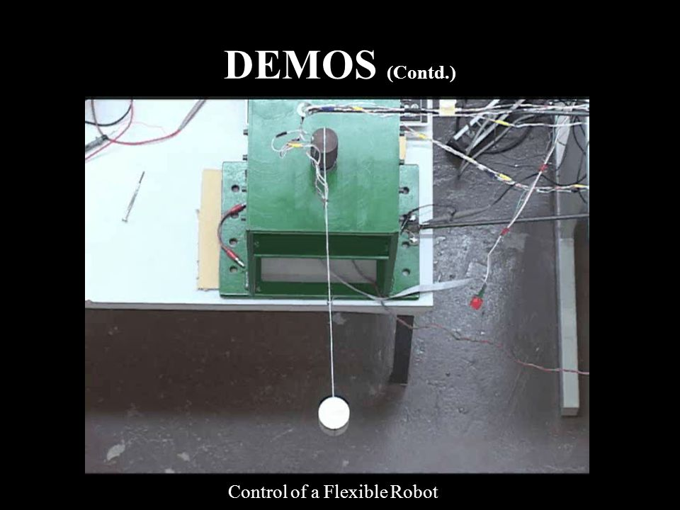 DEMOS (Contd.) Control of a Flexible Robot