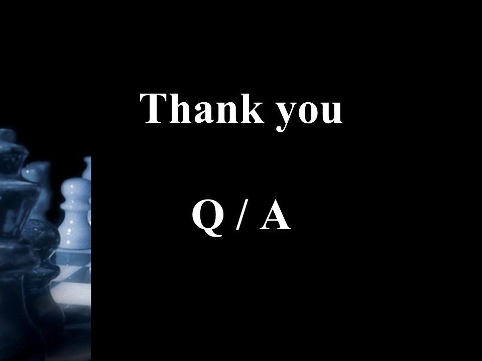 Thank you Q / A