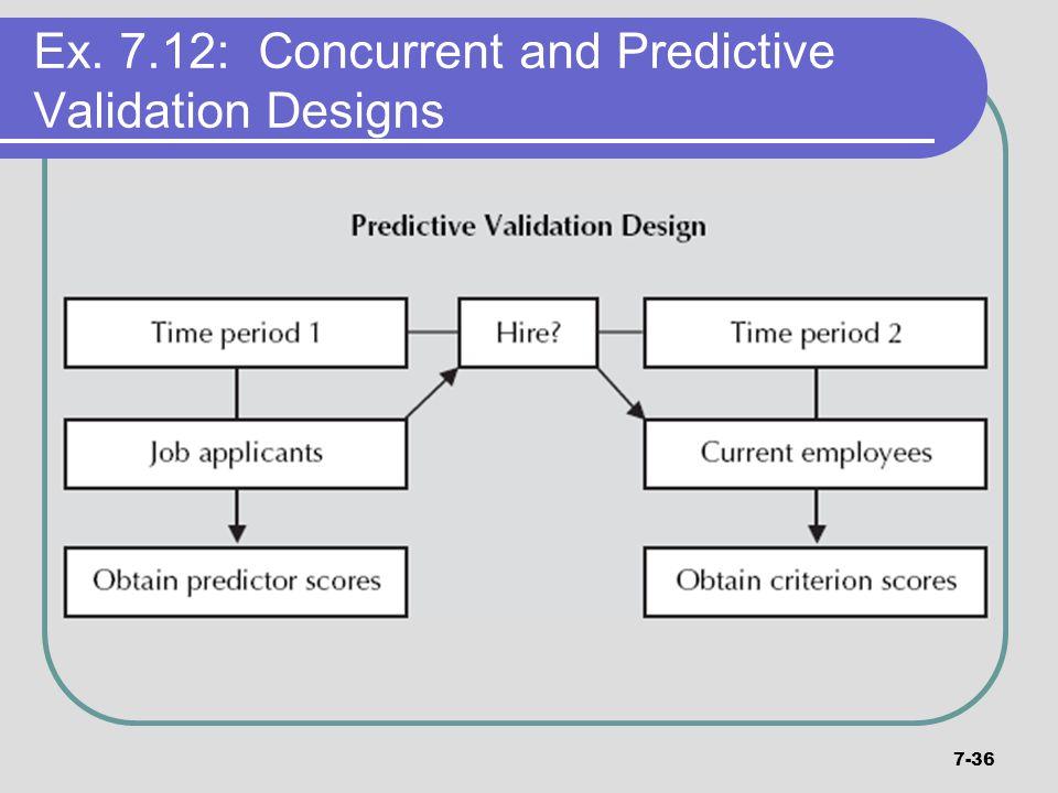 7-36 Ex. 7.12: Concurrent and Predictive Validation Designs