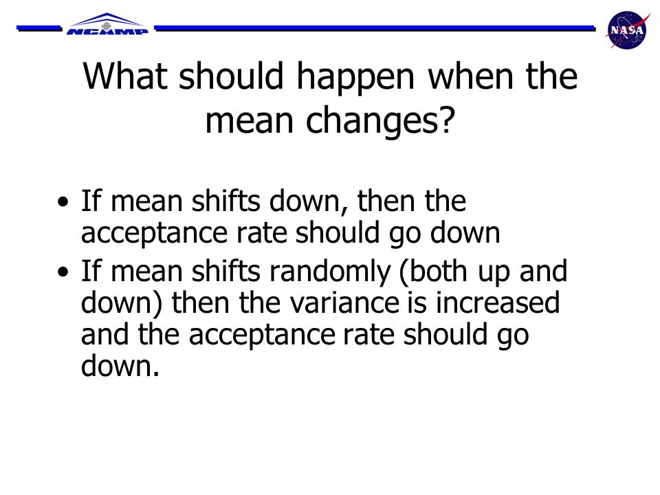 What should happen when the mean changes.