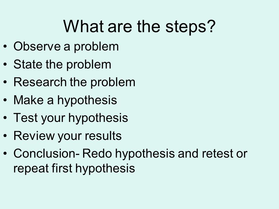 What are the steps.