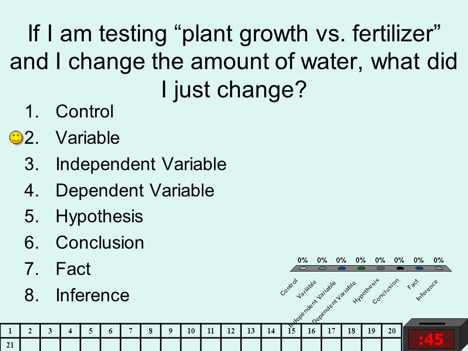 If I am testing plant growth vs.
