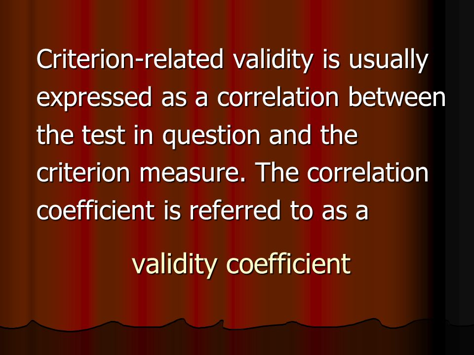 Split-Half Reliability Sometimes referred to as internal consistency Sometimes referred to as internal consistency Indicates that subjects' scores on some trials consistently match their scores on other trials Indicates that subjects' scores on some trials consistently match their scores on other trials