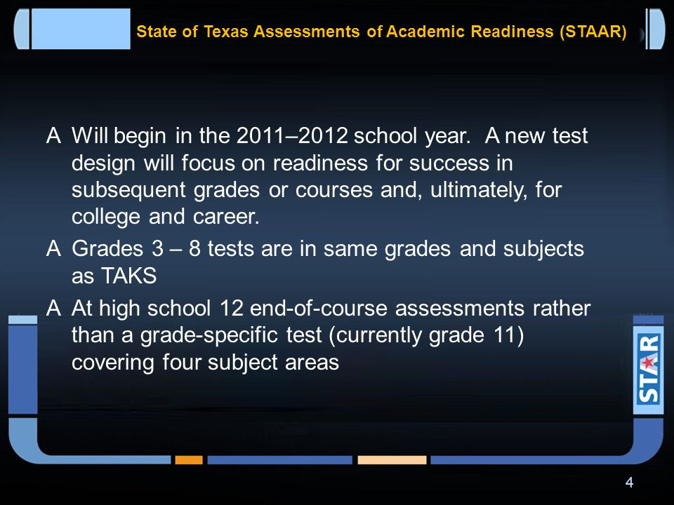 NEW ASSESSMENT PROGRAM IS READY TO LAUNCH 3 STAAR DATE WARP DRIVE ENGAGED