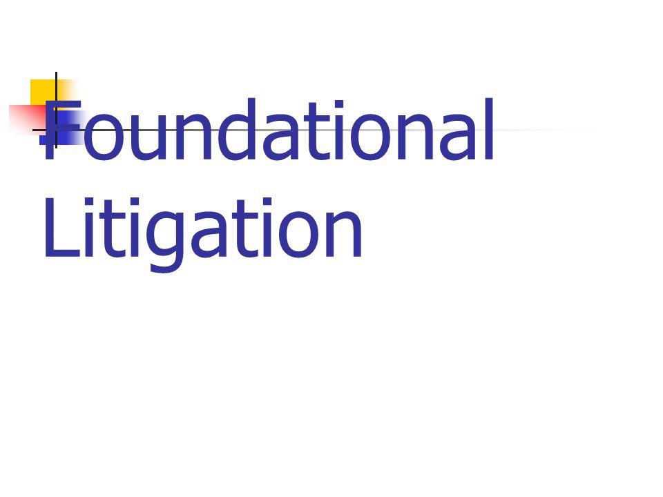 Foundational Litigation