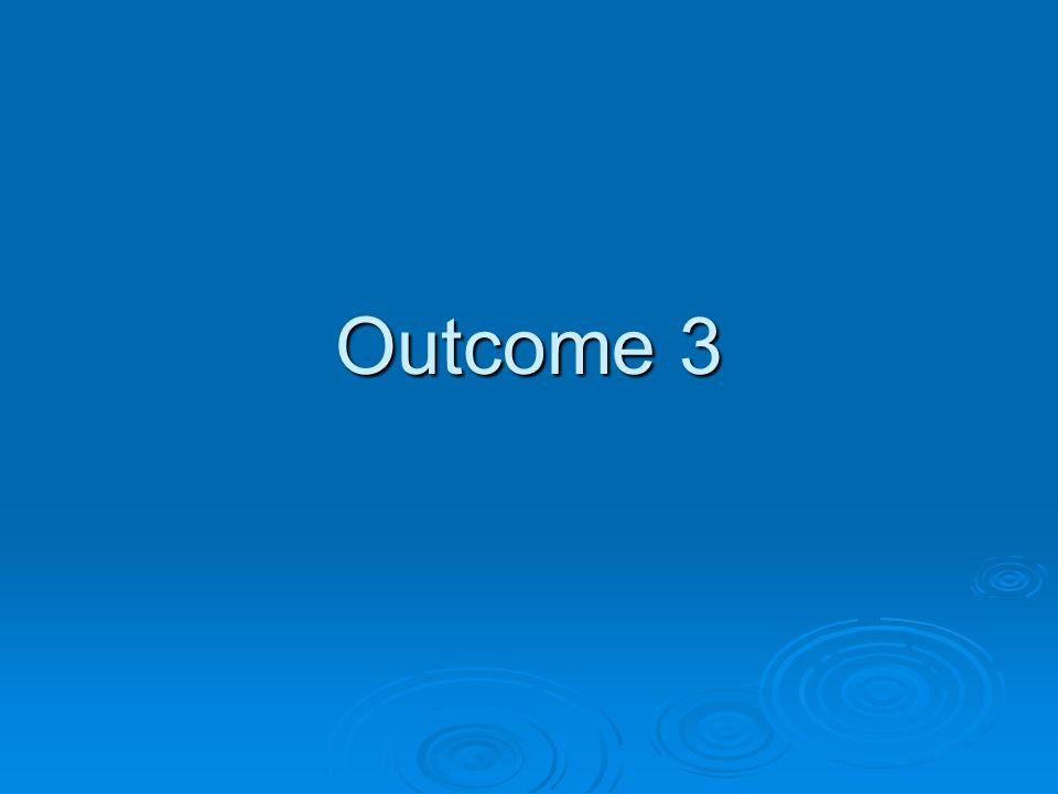 Outcome 3