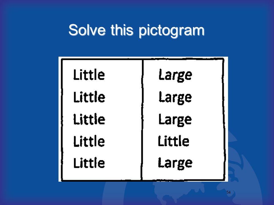 54 Solve this pictogram