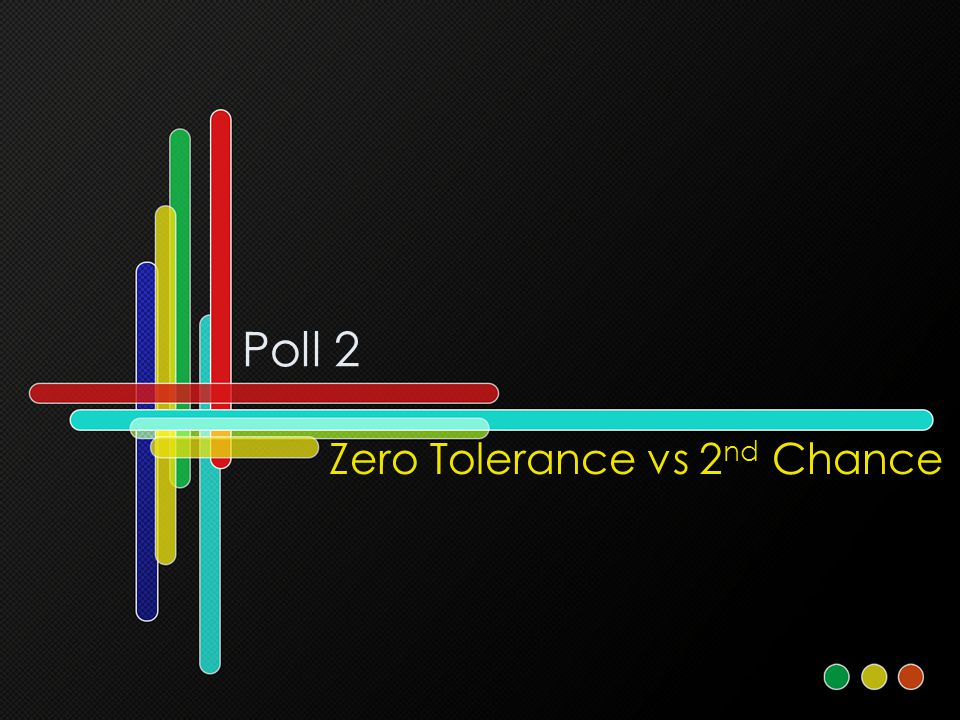 Poll 2 Zero Tolerance vs 2 nd Chance