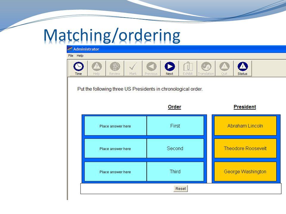 Matching/Ordering