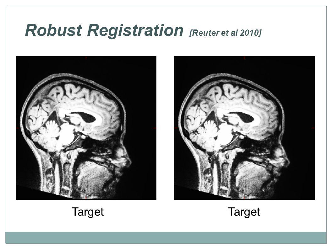 Robust Registration [Reuter et al 2010] Target